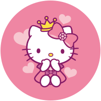 Etiquette Hello Kitty Coeur