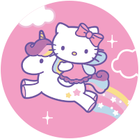 Etiquette Hello Kitty Licorne