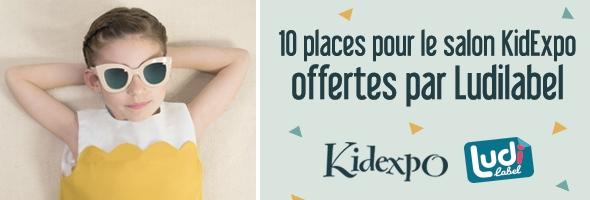 Bannière du jeu pour gagner des places pour Kidexpo 2017