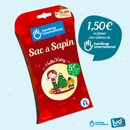 Sac à sapin en faveur des actions d'Handicap International