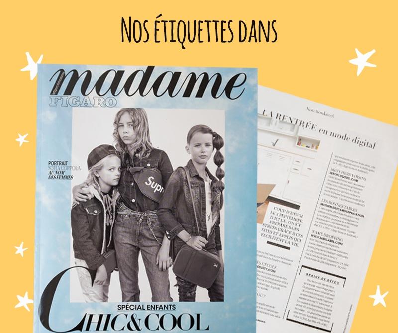 Ludilabel dans Figaro Magazine