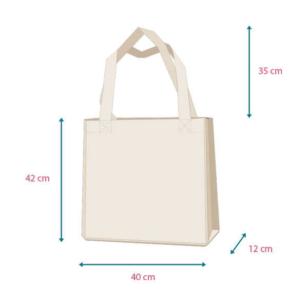 Dimensions tote bag Ludilabel