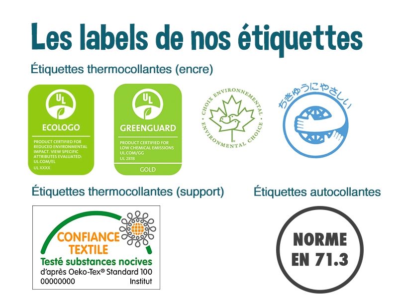 encres eco etiquettes thermocollante autocollante