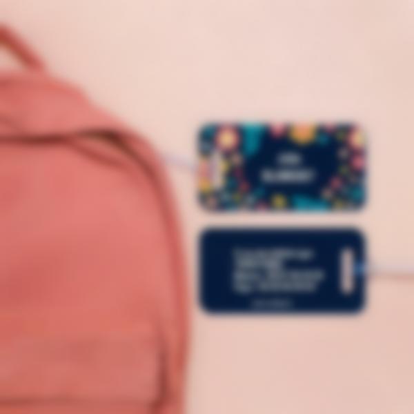 1 etiquette bagage valise sac cartable avion adresse