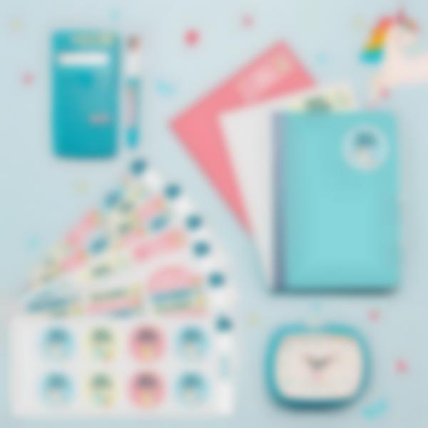 1 pack etiquettes marquer affaires vetements ecole licorne 21