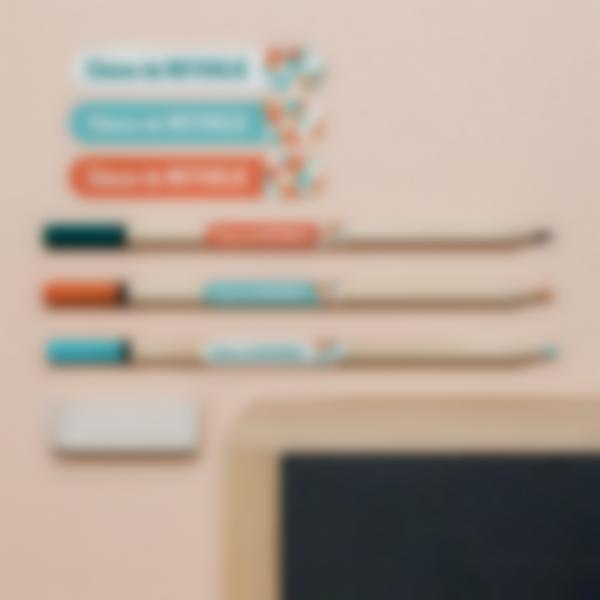 2 pack cadeau maitresse etiquettes autocollantes personnalisees stylos 2