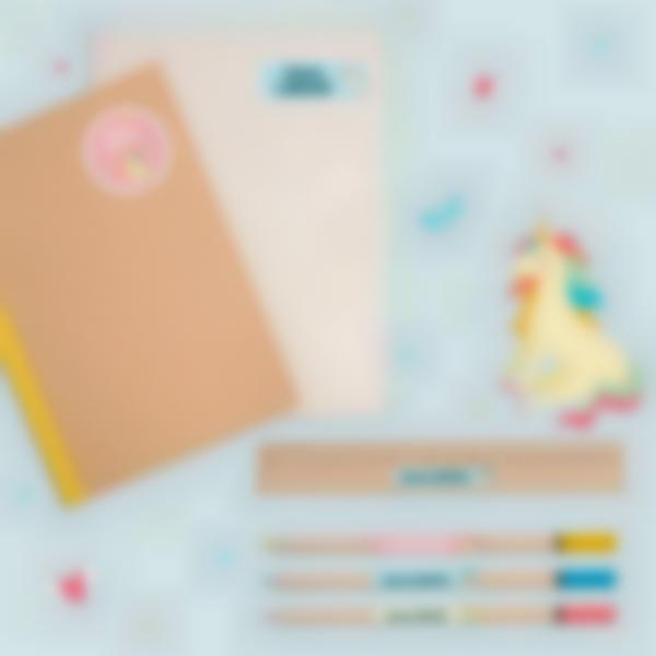 2 pack etiquettes ecole marquer fournitures stylos trousse licorne 21