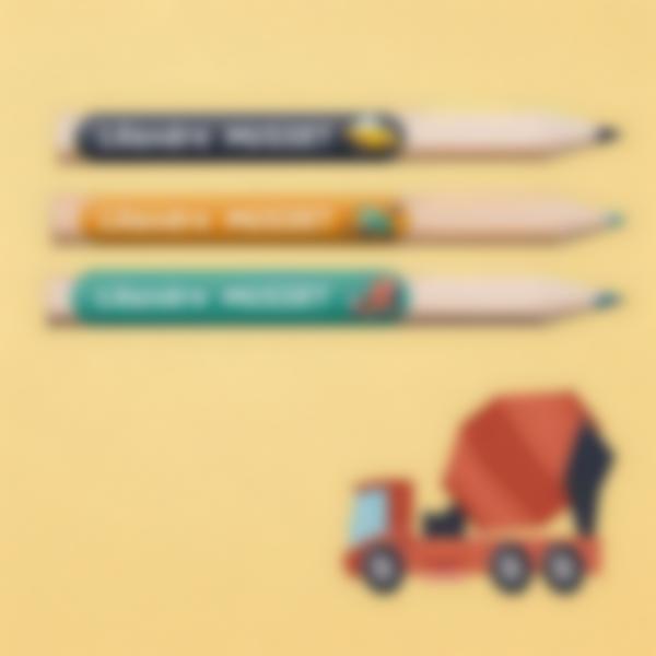 3 etiquettes objets ecole maternelle travaux publics