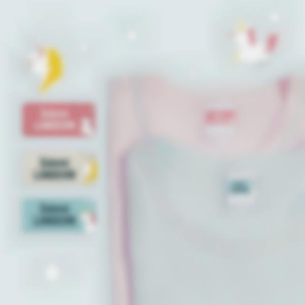 4 pack etiquettes autocollantes marquer vetements enfants ecole licorne