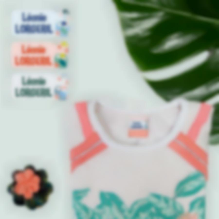 4 pack etiquettes vetements autocollantes ludistart tropical