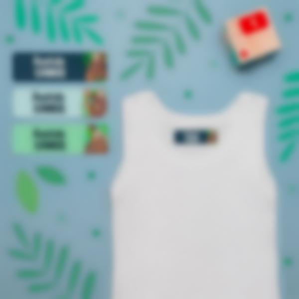 4 pack etiquettes vetements objets ecole maternelle paresseux