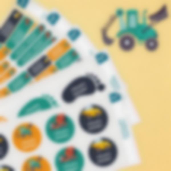 8 pack etiquettes vetements objets ecole maternelle travaux publics plaquettes