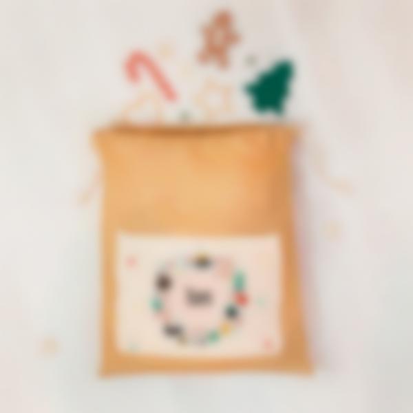 bolsa grande navidad corona regalos 1