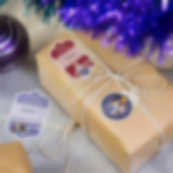 etiquette noel frozen disney paquets cadeau