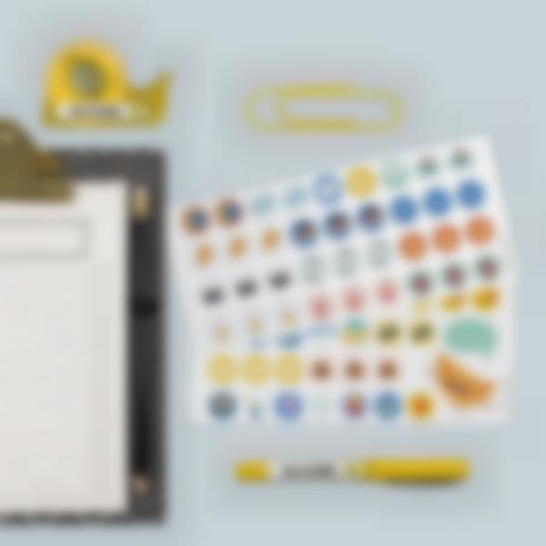etiquettes autocollantes pour marquer les affaires de bureau 2