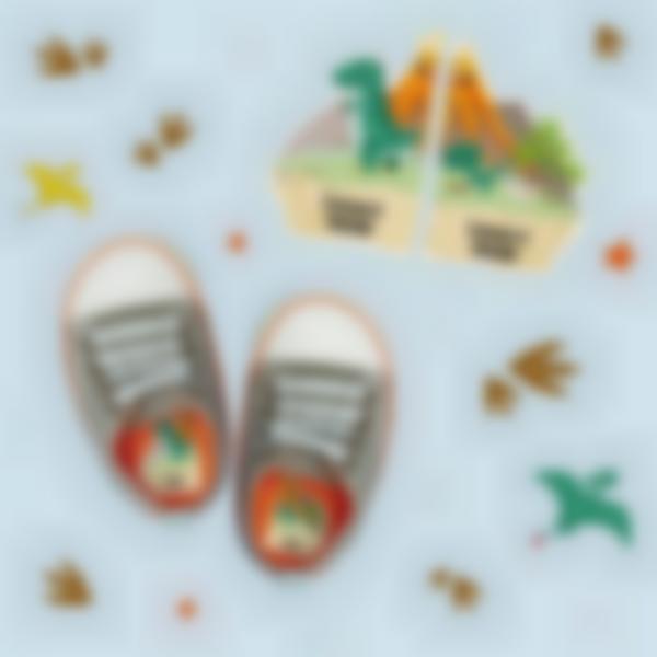 etiquettes chaussures intuitives enfant dinosaure