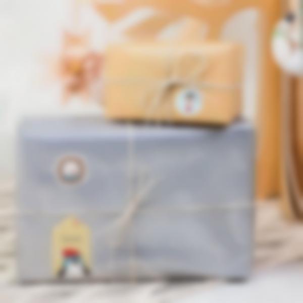 etiquettes noel ludilabel paquet cadeau 1