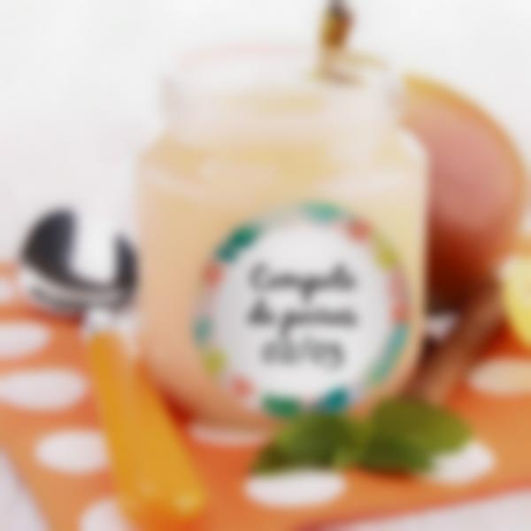 etiquettes rondes effac ables petit pots pour bebe