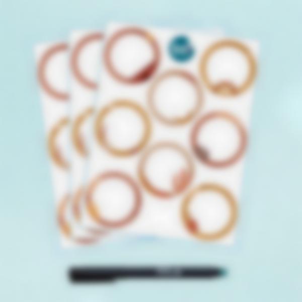 etiquettes effac ables terracotta