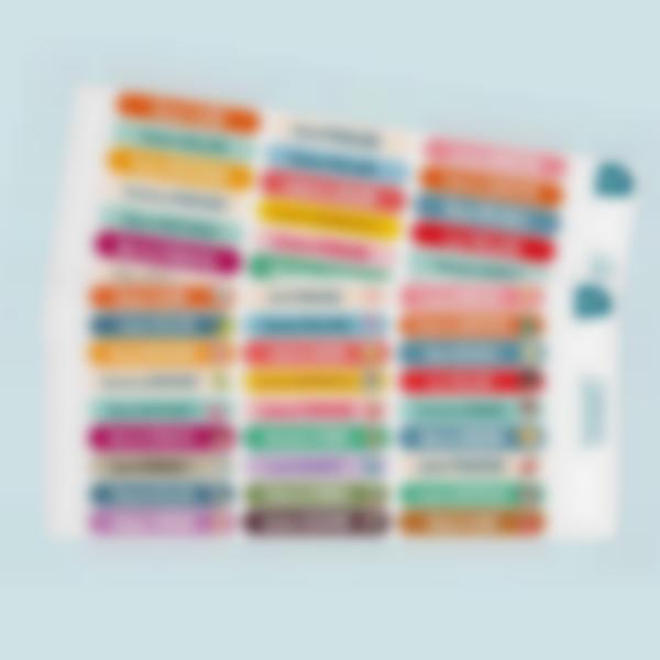 minis etiquettes autocollantes multi texte 2