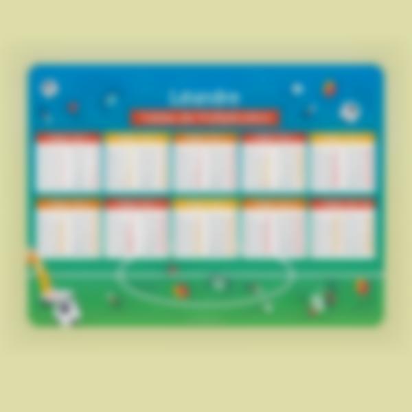 poster educatif tables de multiplication autocollants sans colle football 1
