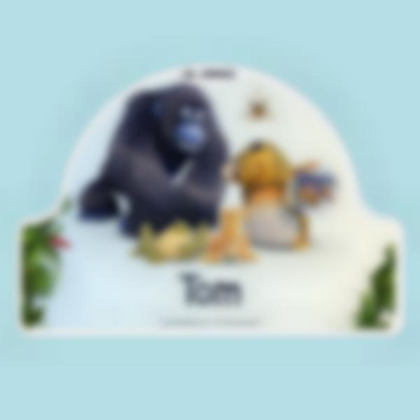 sticker porte chambre enfant as de la jungle 1