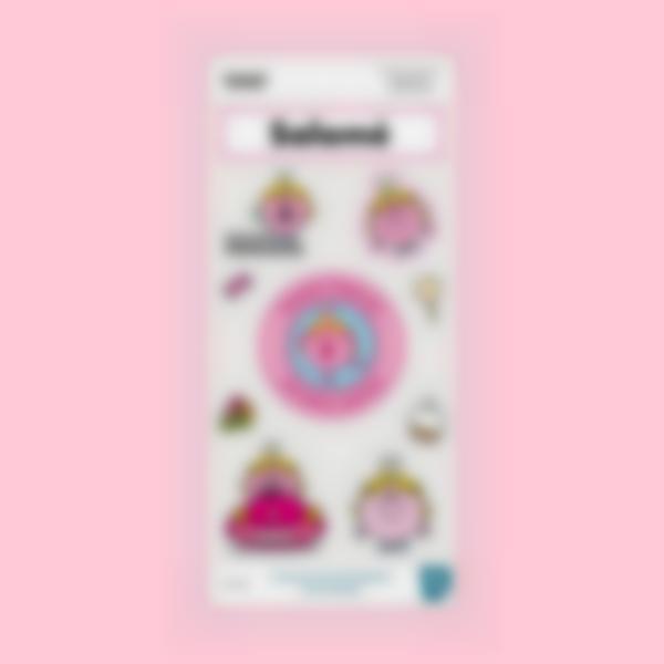 stickers gourde madame princess 1