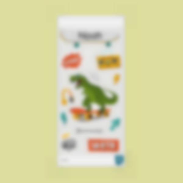t rex ludilabel stickers gourde 2