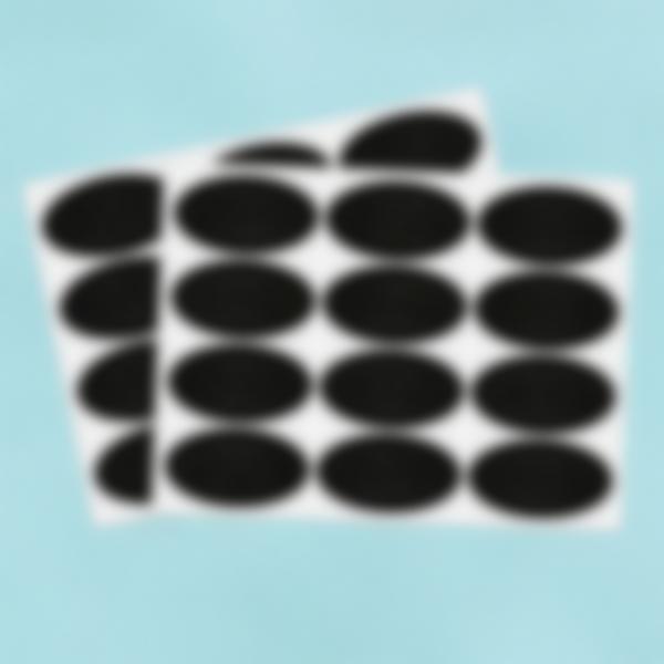 24 petites étiquettes Ardoise autocollantes - Ovales