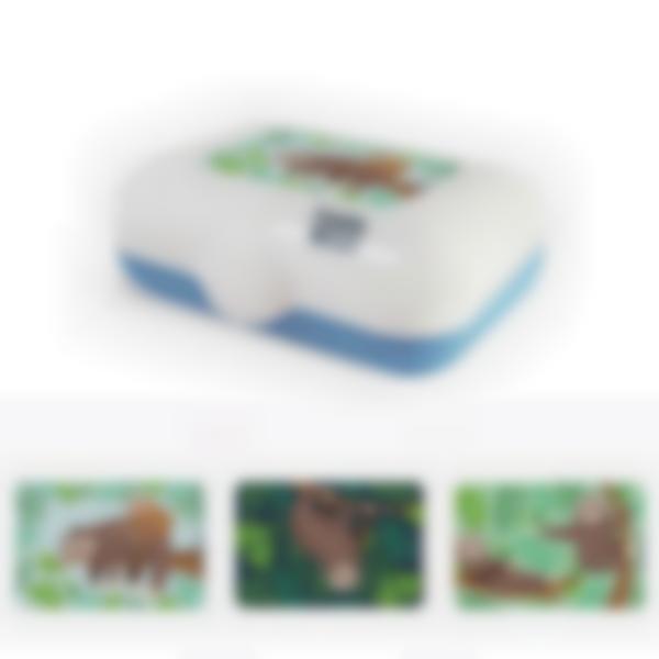 Ludibox - Boîte à goûter bleue - Paresseux