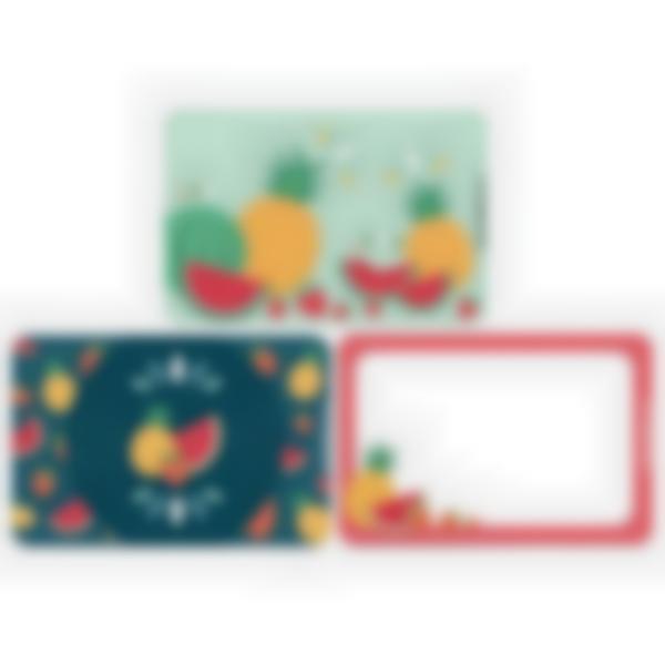 3 cartes magnétiques pour Ludibox - boîte à goûter – Fruits