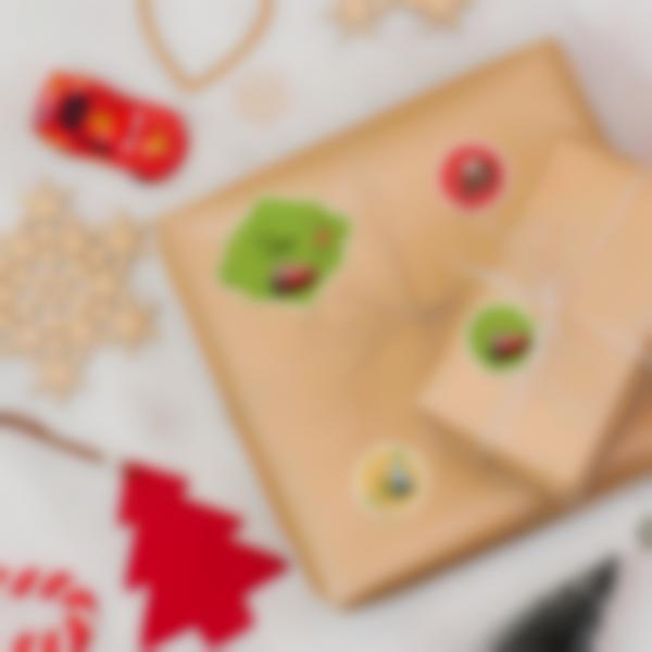 Étiquettes pour marquer les cadeaux de Noël - Cars