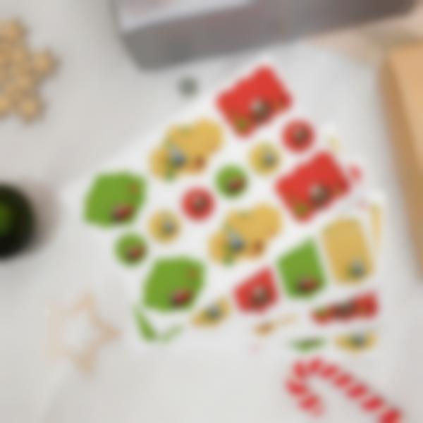 Etiquettes cadeaux de Noël - Cars