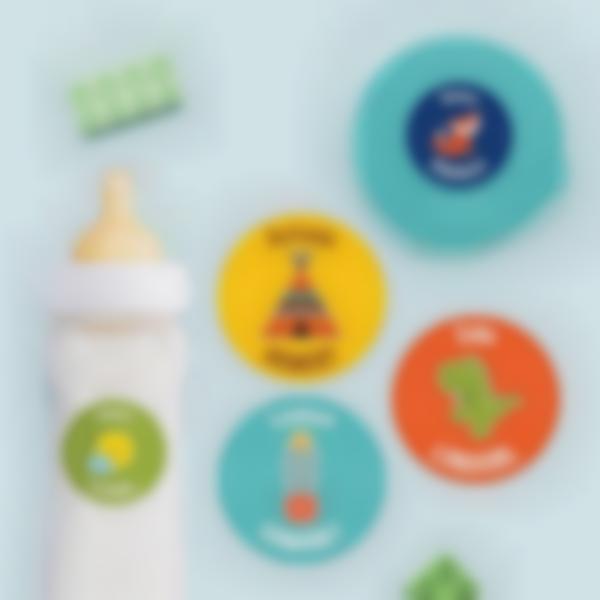 Etiquettes autocollantes rondes multi-personnalisations