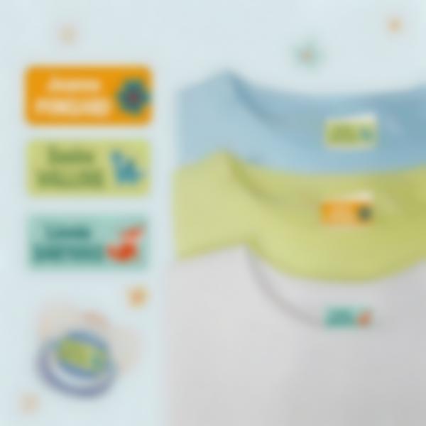 Étiquettes autocollantes Ludisticks pour Vêtements - Plusieurs Noms