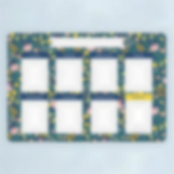 Planning Organiseur - Hebdomadaire et Effaçable - Fleurs