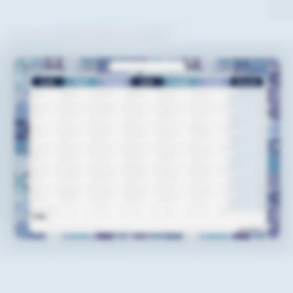 Planning mensuel effaçable - Azulejos