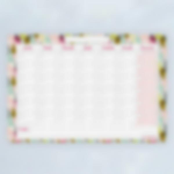 Planning mensuel effaçable - Glitter