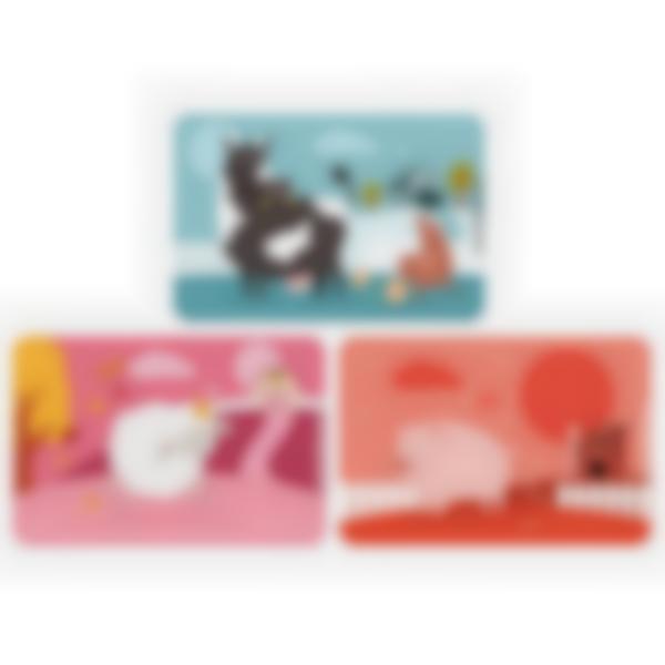 3 cartes magnétiques pour Ludibox - boîte à goûter - Animaux de la ferme