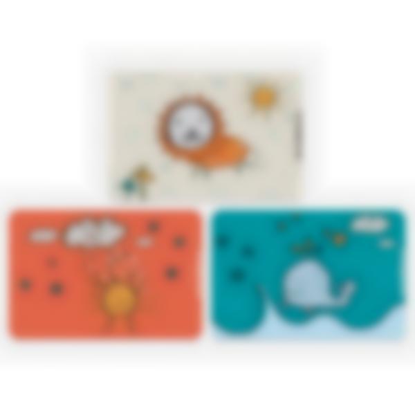 3 cartes magnétiques pour Ludibox - boîte à goûter - Dessins d'enfant