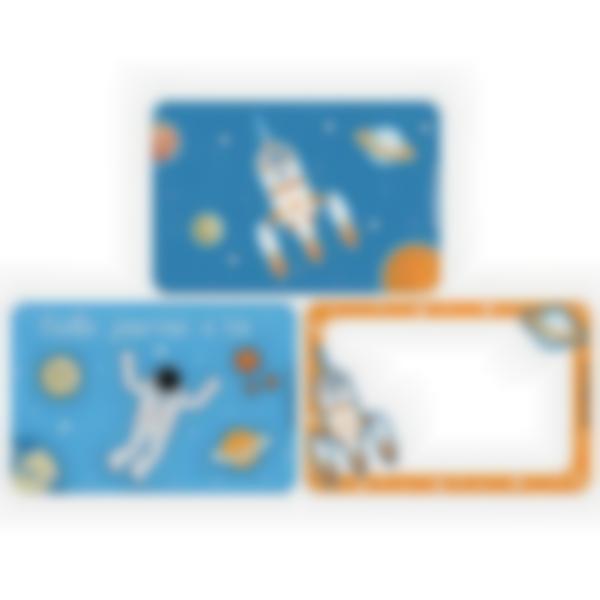 3 cartes magnétiques pour Ludibox - boîte à goûter - Espace