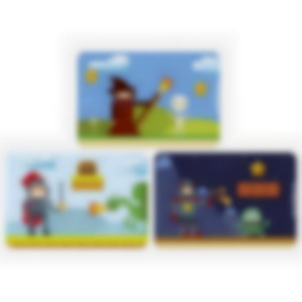 3 cartes magnétiques pour Ludibox - boîte à goûter - Retro Games
