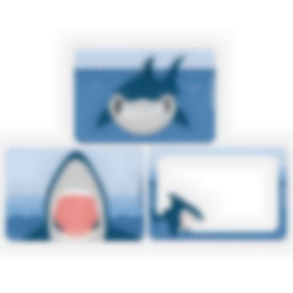 3 cartes magnétiques pour Ludibox - boîte à goûter - Requin