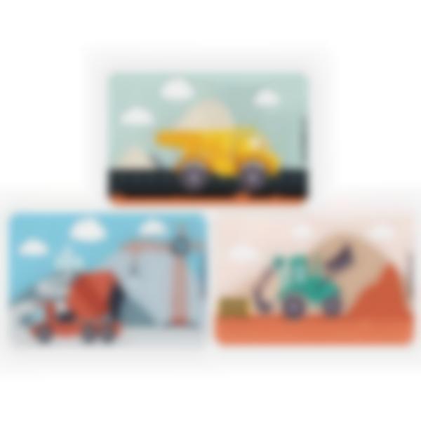 3 cartes magnétiques pour Ludibox - boîte à goûter - Travaux Publics