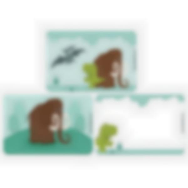 3 cartes magnétiques pour Ludibox - boîte à goûter – Dinosaure