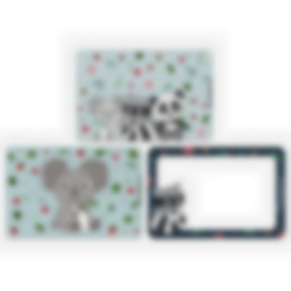 3 cartes magnétiques pour Ludibox - boîte à goûter – Animaux