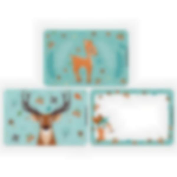 3 cartes magnétiques pour Ludibox - boîte à goûter – Forêt