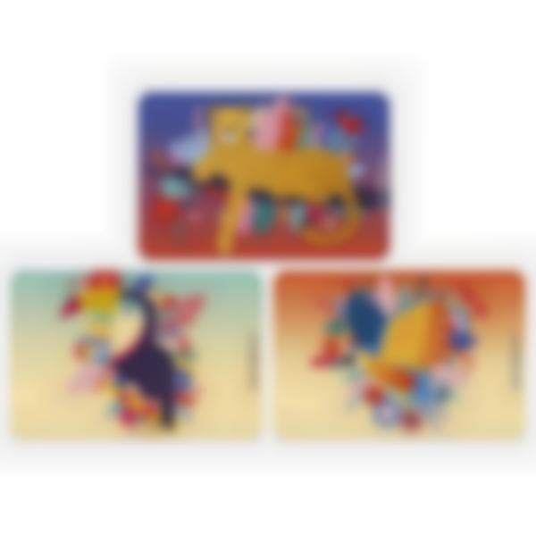 Lot de 3 cartes magnétiques pour Ludibox - boîte à goûter  - Jungle Vibes