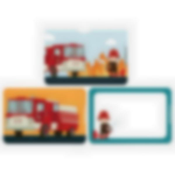 3 cartes magnétiques pour Ludibox - boîte à goûter – Pompier
