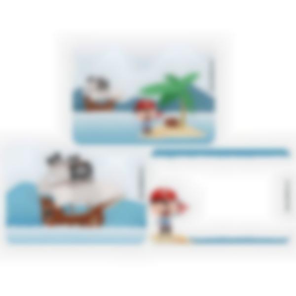 3 cartes magnétiques pour Ludibox - boîte à goûter - Pirate